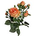 Kunstblume/Seidenblume Rose Englisch mit Blüten und Knospen