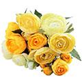 Kunstblume/Seidenblume Ranunkelbusch mit 10 Blüten