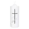 Gedenkkerze Calla mit Kreuz