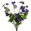 Kunstblume/Seidenblume Hornveilchenbusch mit 12 Stielen