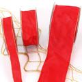 Uni-Taftband mit Lurexdrahtkante