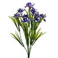 Kunstblume/Seidenblume Irisbusch x9