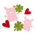 Filzsortiment Glücksschweinchen