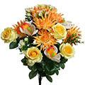 Kunstblumen/Seidenblumen-Strauß Rose-Dahlie-Cymbidium