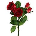 Kunstblume/Seidenblume Rose mit offenen und geschlossenen Blüten