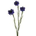 Kunstblume/Seidenblume Kornblume mit 3 Blüten