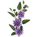 Kunstblume/Seidenblume Clematis mit 3 Blüten und Knospen