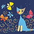 Serviette Danze delle Farfalle
