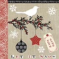 Serviette Let it Snow