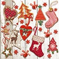 Serviette X-mas Tags