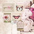 Serviette Butterfly Stamp