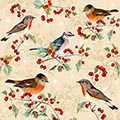 Serviette Birds on Ilex