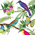 Serviette Tropical Birds