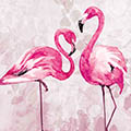 Serviette Flamingo Dance