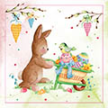 Serviette Bunny and Birdie